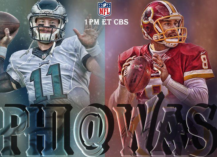 Sports Graphic Design - NFL - Philadelphia Eagles vs Washington Redskins