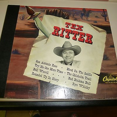 COUNTRY 78RPM 4 RECORD ALBUM SET- TEX RITTER - CAPITOL BD27
