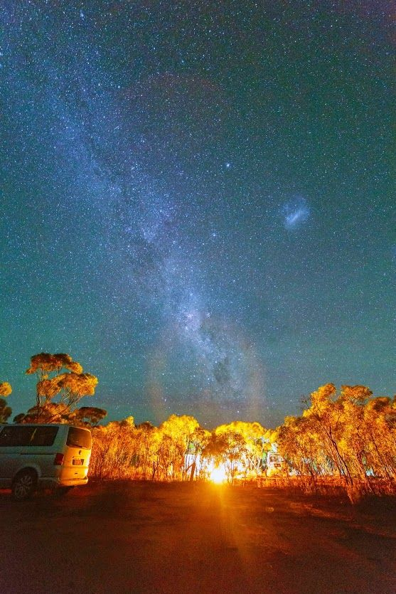 Camping under the milkyway at Perkolilli (a dried up lake outside of Kalgoorlie, Western Australia). For those who follow me, my telescope and camera equipment came with me, and I spent nearly all night photographing the night sky.  Hopefully some nice photos to follow...  #camping   #nightphotography   #milkyway   #night
