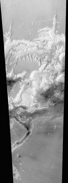 Chaos on Mars Edited image from ESA's Mars Expression spacecraft of a chaotic region on Mars. | Flickr - Stuart Rankin