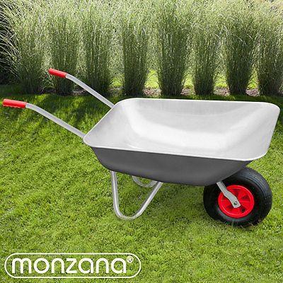 Monzana-Schubkarre-80L-Transportwagen-Geratewagen-Luftrad-Gartenkarre-200kg