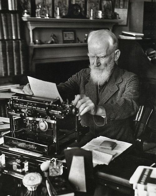 George Bernard Shaw at work. This photo was taken in 1933. Photo credit Alfred Eisenstadt.