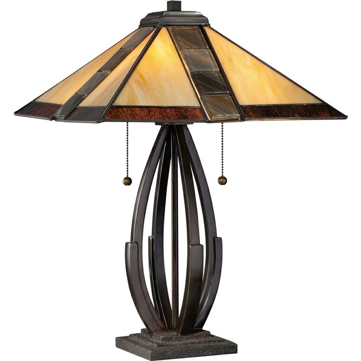 79 best mission asian table lamps images on pinterest asian 2 light destiny tiffany table lamp shown in valiant bronze by quoizel lighting tf1181tva mozeypictures Choice Image