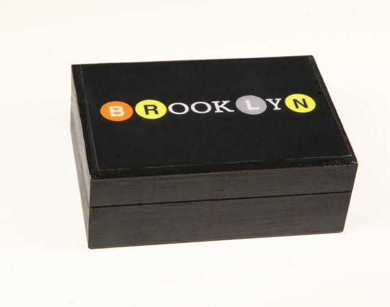 Brooklyn Keepsake Boxes, NYC Subway, Brooklyn Art, Brooklyn Gift, Brooklyn Souvenir, Large Keepsake Box, Wooden Keepsake Box