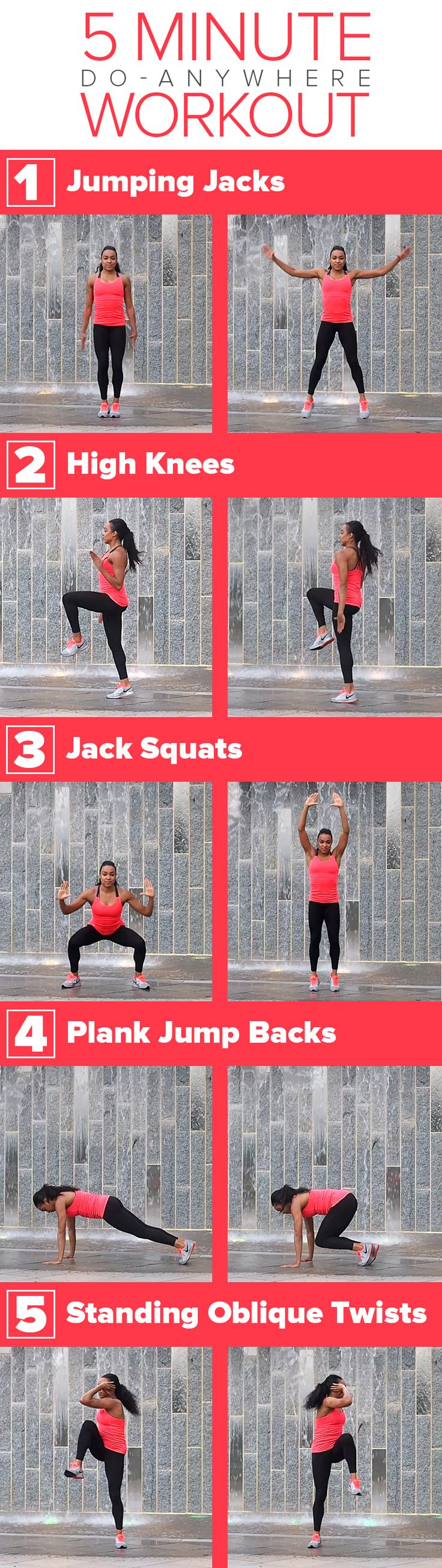 There's no equipment required for this 5-minute full body workout routine.