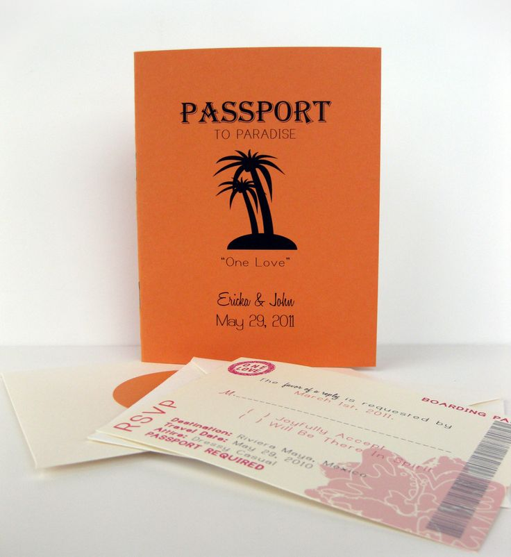 wedding card wordings simple%0A Passport wedding invitations