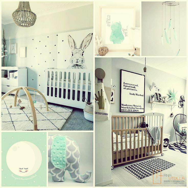 Utiliza cuadros y demás accesorios para darle vida a la habitación de tu bebé.