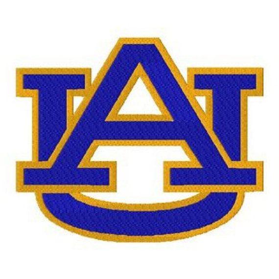 Auburn university tigers logo machine embroidery design