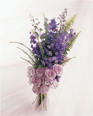 lavender idea | of this bouquet. Lavender freesia, dark blue delphinium and lavender ... #lovelylavender