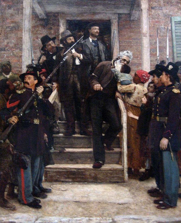 'The Last Moments of John Brown', oil on canvas painting by Thomas Hovenden - John Brown (abolitionist) - Wikipedia, the free encyclopedia