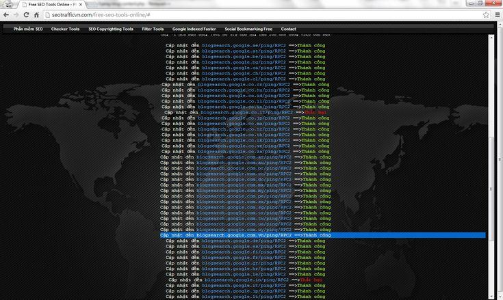 """Làm sao để Google Index Website, nội dung mới nhanh nhất - Pinger Blog Auto Ping Blog URLs XML-RPC - Giúp Index Website nhanh trên Google Search Engine.  Google Index Website chậm ? Hãy thử tiện ích SEO của SeotrafficVN.com Auto Ping Blogger Urls đến các XML RPC phổ biến trên Google Search Engine. """"Với tiện ích SEO này đảm bảo nội dung Blog sẽ được Index nhanh nhất."""""""