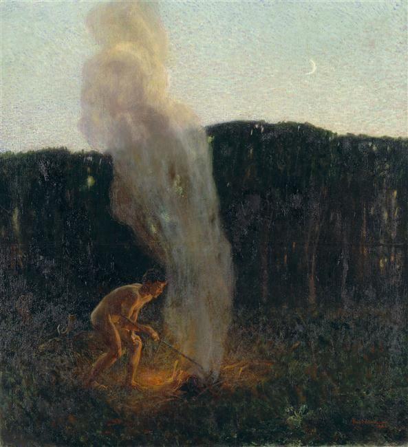 The Column of Smoke, early 20th C. Plinio Nomellini (1866-1943) / Piacenza, Galleria d'arte moderna Ricci Oddi