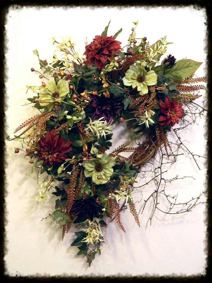 27 Best Fall Wreaths And Door Swags For Sale Images On