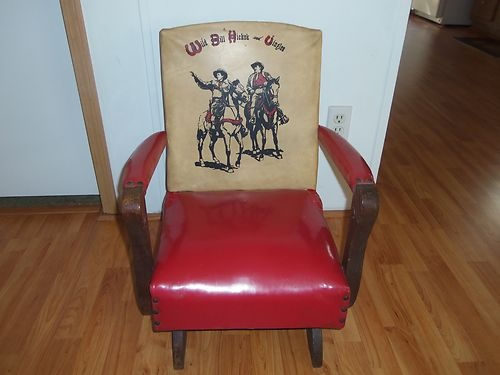 ... western childs rocking chair 1950s vtg  Rocking chairs, Chairs and