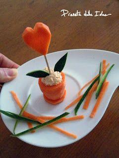 Intaglio della verdura: Vasetto di carota in stile Finger Food e Visual Food!!! ~ Pianeta delle Idee
