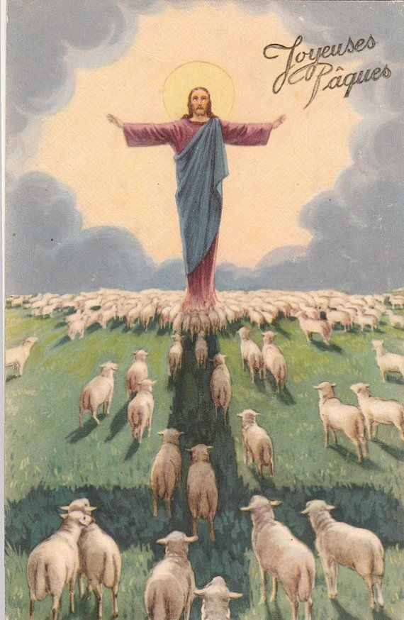 Vintage Religious Jesus christ  postcard. by ParisBookandPaper