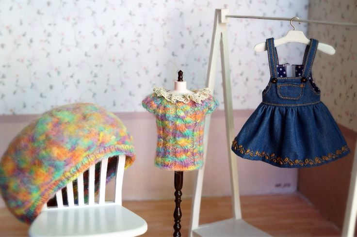 A personal favorite from my Etsy shop https://www.etsy.com/listing/548127891/blythe-set-knitted-rainbow-and-skirt