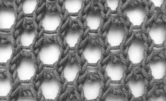 Honeycomb knit stitch pattern - KnitHit
