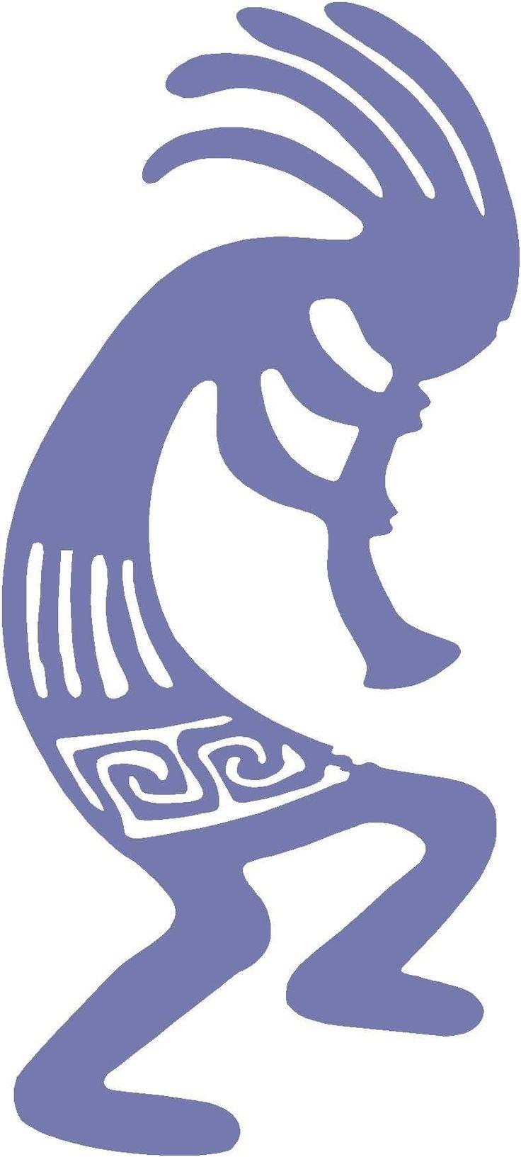 indian art kokopelli tattoo design