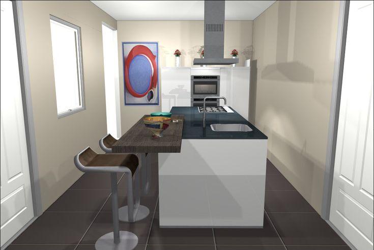 17 beste afbeeldingen over 3d keukenontwerpen op pinterest met tips en bar - Keuken kookeiland ontwerp ...