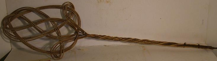 A carpet beater used in this house by members of the Rudduck family.
