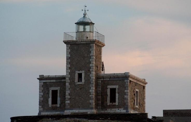 Lighthouse in Tinos Island Greece