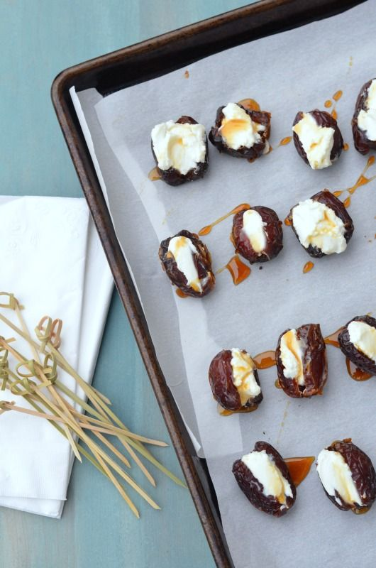 Baked Goat Cheese Stuffed Dates with Honey // Karista's Kitchen