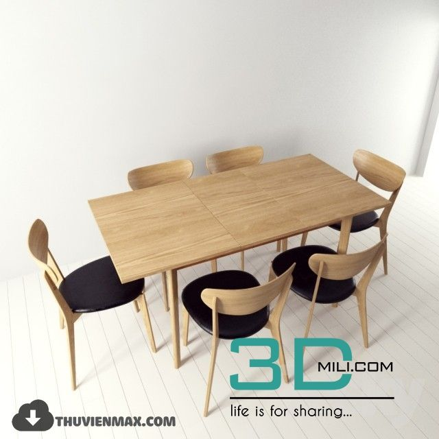 203 Table Chair 3d Models Free Download