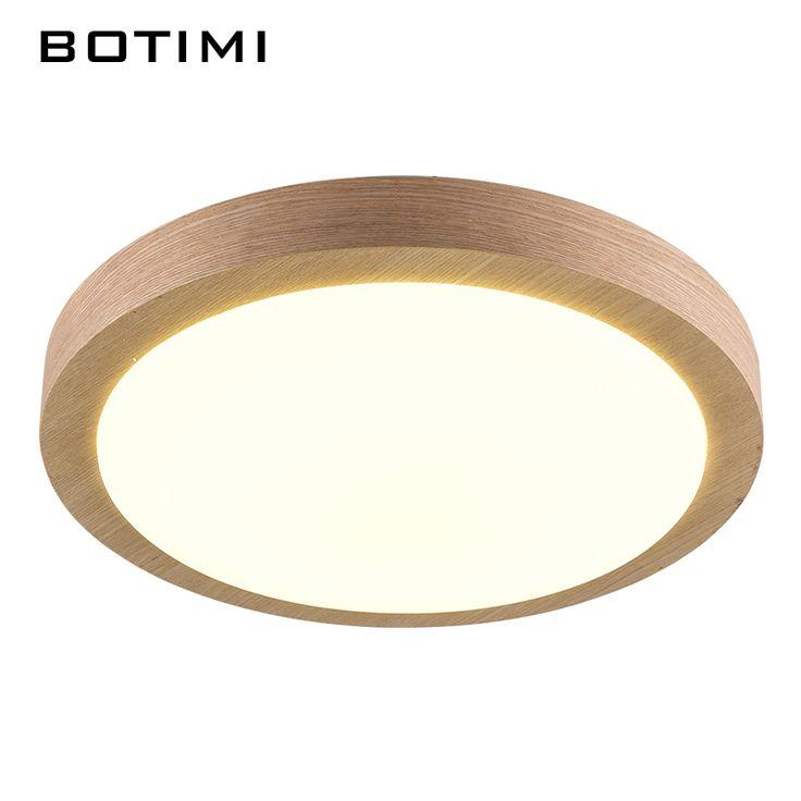 BOTIMI Moderne LED Hout Plafondverlichting In Ronde Vorm lamparas de techo Voor Slaapkamer Balkon Gang Keuken Verlichtingsarmaturen(China (Mainland))