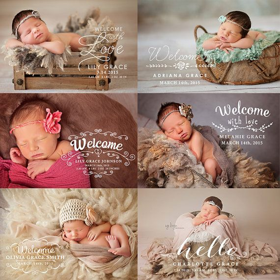 Newborn birth announcement photo overlays photography newborn words overlays id236