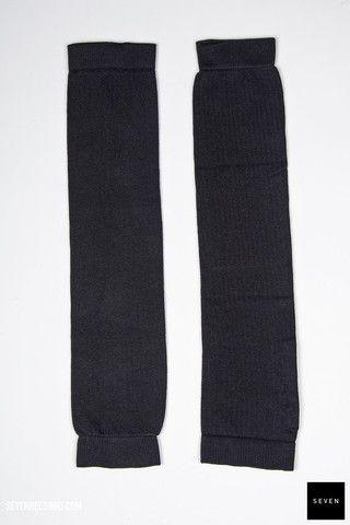 Rick Owens KNIT LEG WARMER - black 69 € | Seven Shop