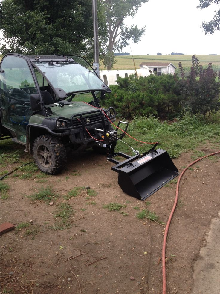 Gator with winch powered bucket Man shed, Snow shovel, Winch