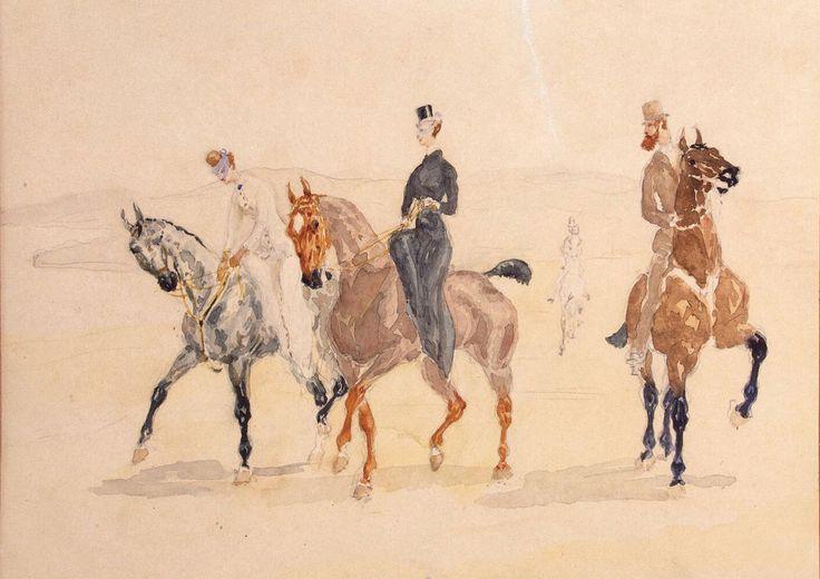 Riders, Henri de Toulouse-Lautrec, 1882