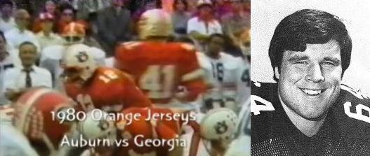 Jackets In College: #64 Jim Skuthan, Auburn University, 1980 Auburn vs. Georgia, Football Game Highlights, Leesburg High School, Leesburg Florida