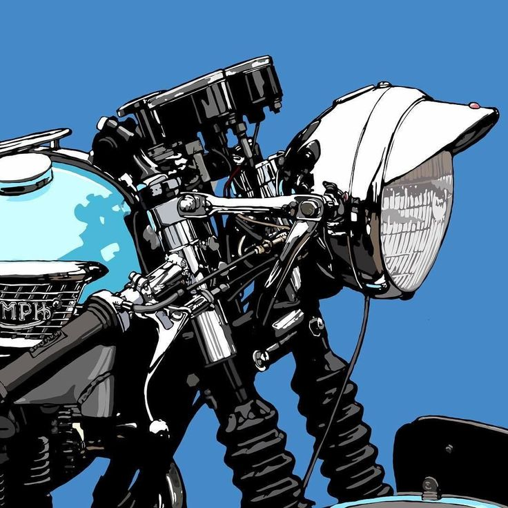Motorcycles design by @Kamu666 #illustration #design #motorcycles #motos   caferacerpasion.com