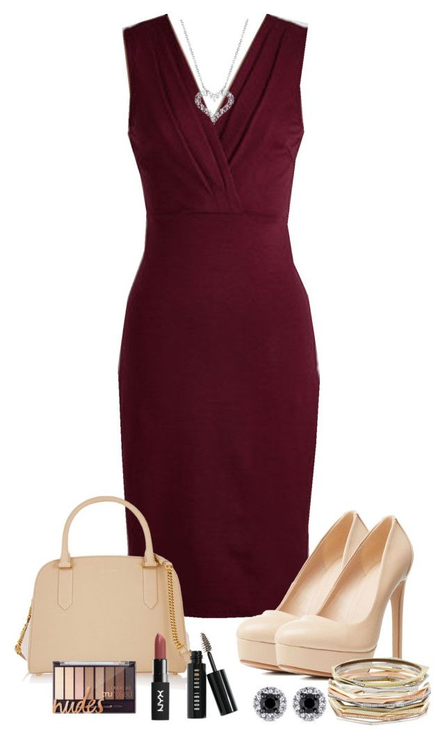 #908 by may-nimo on Polyvore featuring Charlotte Russe, Nina Ricci, Kendra Scott, Bobbi Brown Cosmetics, WorkWear and plus size dresses