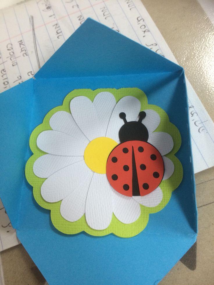 Flower and ladybug