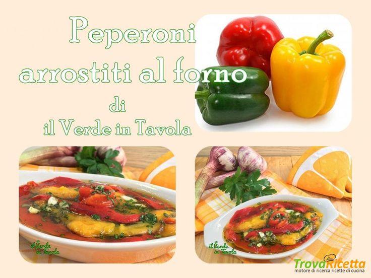 Peperoni arrostiti al forno – videoricetta  #ricette #food #recipes