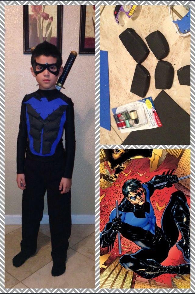 Nightwing Costume For Kids DIY Halloween costume ...