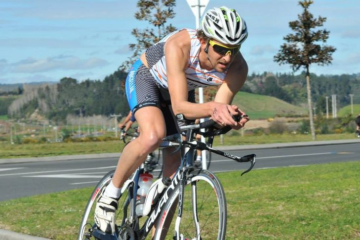 Team Magellan's Rob Dallimore, racing into 2nd place at a recent Club Duathlon in Tauranga.