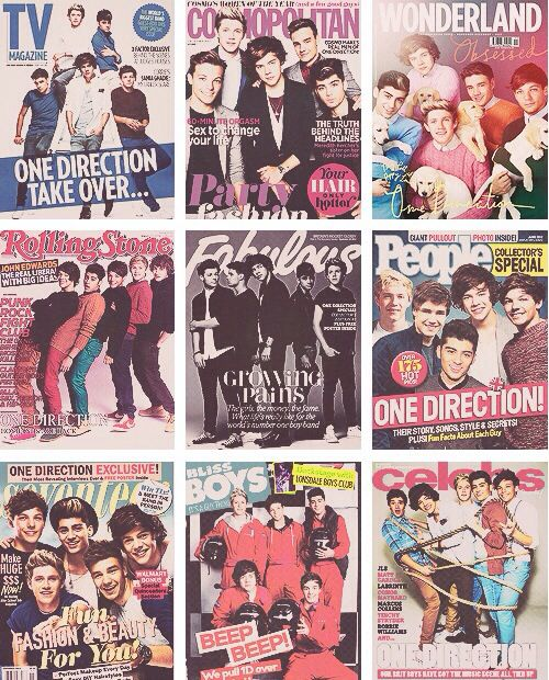One Direction on magazine covers