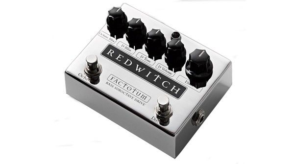 Factotum Premium Bass Guitar Pedal Features two separate effects in one glorious chrome package; the ridiculous might and sub thumping girth of our 100% analog suboctave and the ultra dial-able grit of our 100% analog bass overdrive.