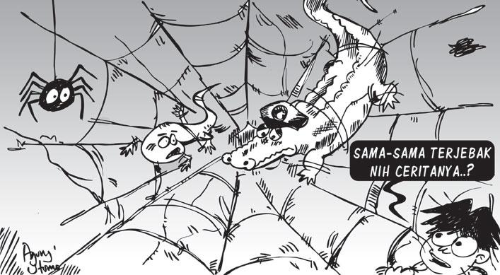 Opini-08Oktober2012-Cicak VS Buaya Jilid II. #sketch #illustration #drawing