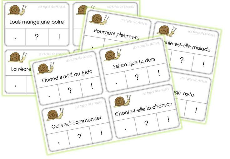 JEUX AUTOCORRECTIFS de grammaire CE1 - Caracolus les types de points !?