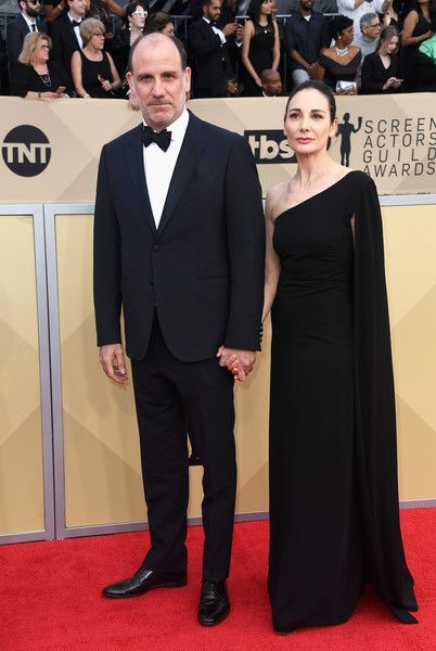Actor Nick Sandow and Tamara Malkin-Stuart attend the 24th Annual Screen Actors Guild Awards at The Shrine Auditorium on January 21, 2018 in Los Angeles, California.