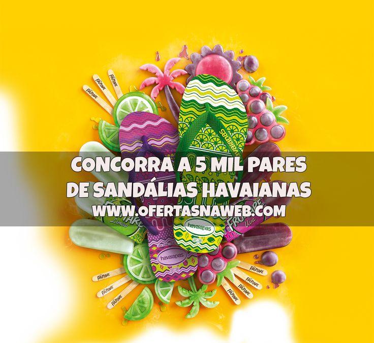 Concorra a pares de sandálias Havaianas em promoção da Fruttare. Veja como participar em www.ofertasnaweb.com