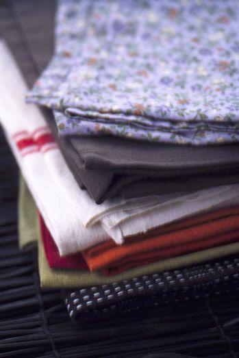 serviette en tissu #Blanc #flower #deco #maison