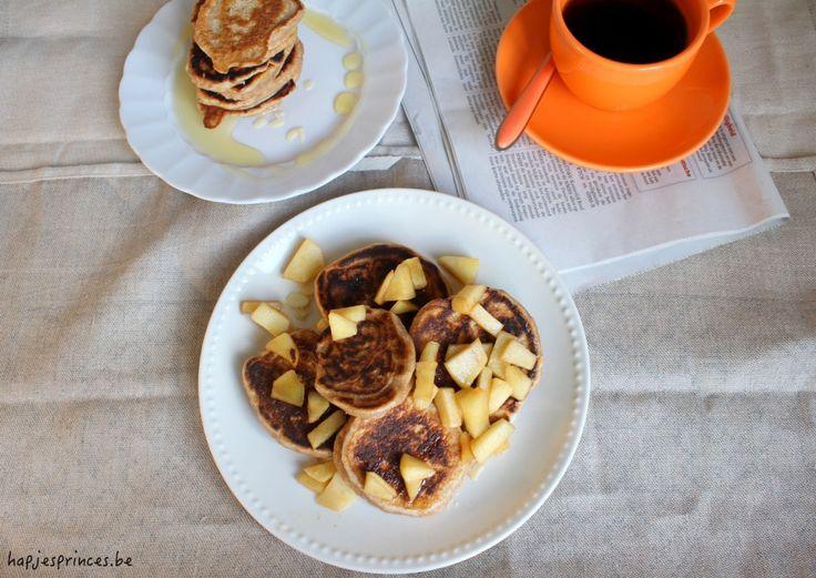 gezonde pannenkoekjes met yoghurt en speltmeel