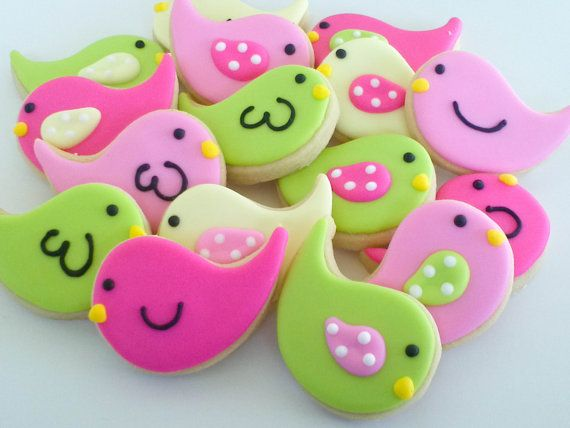 Pastel chicks cookies