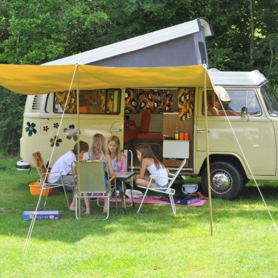 VW pop top. Sandy Coast of Little Miss Sunshine, a vacation on wheels with Adventure Rentals.